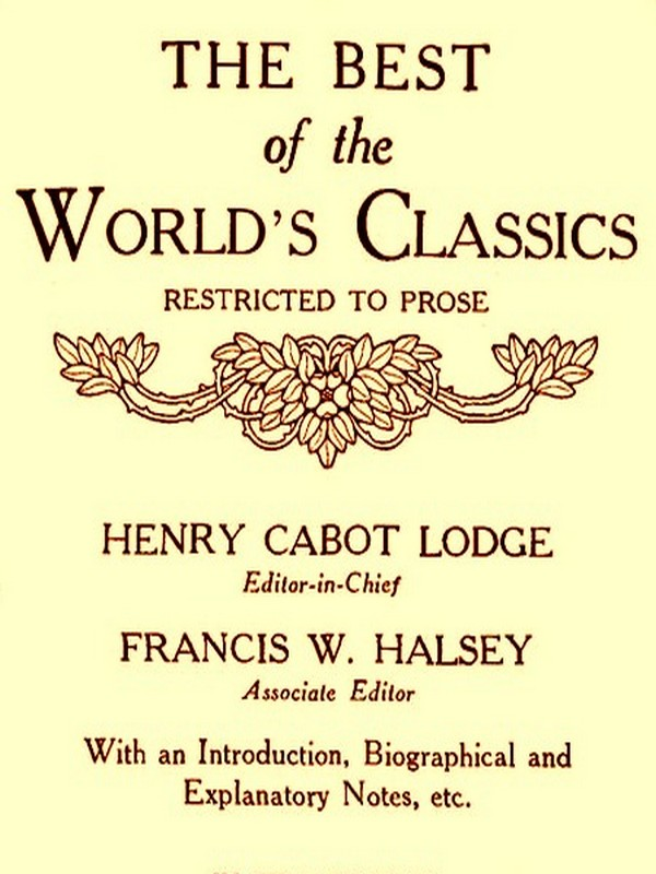 The Best of the World's Classics, Volumes I-II