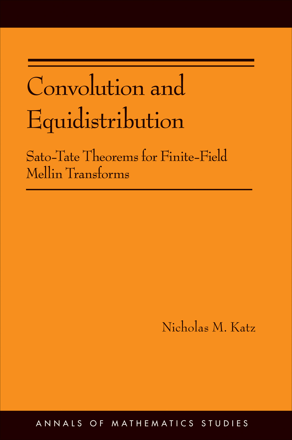 Convolution and Equidistribution Sato-Tate Theorems for Finite-Field Mellin Transforms (AM-180)