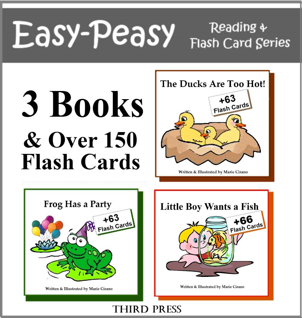 Collection 2 - 3 Easy Readers that are over 90% Sight Words!  (The Ducks are Too Hot, Frog Has a Party & Little Boy Wants a Fish)