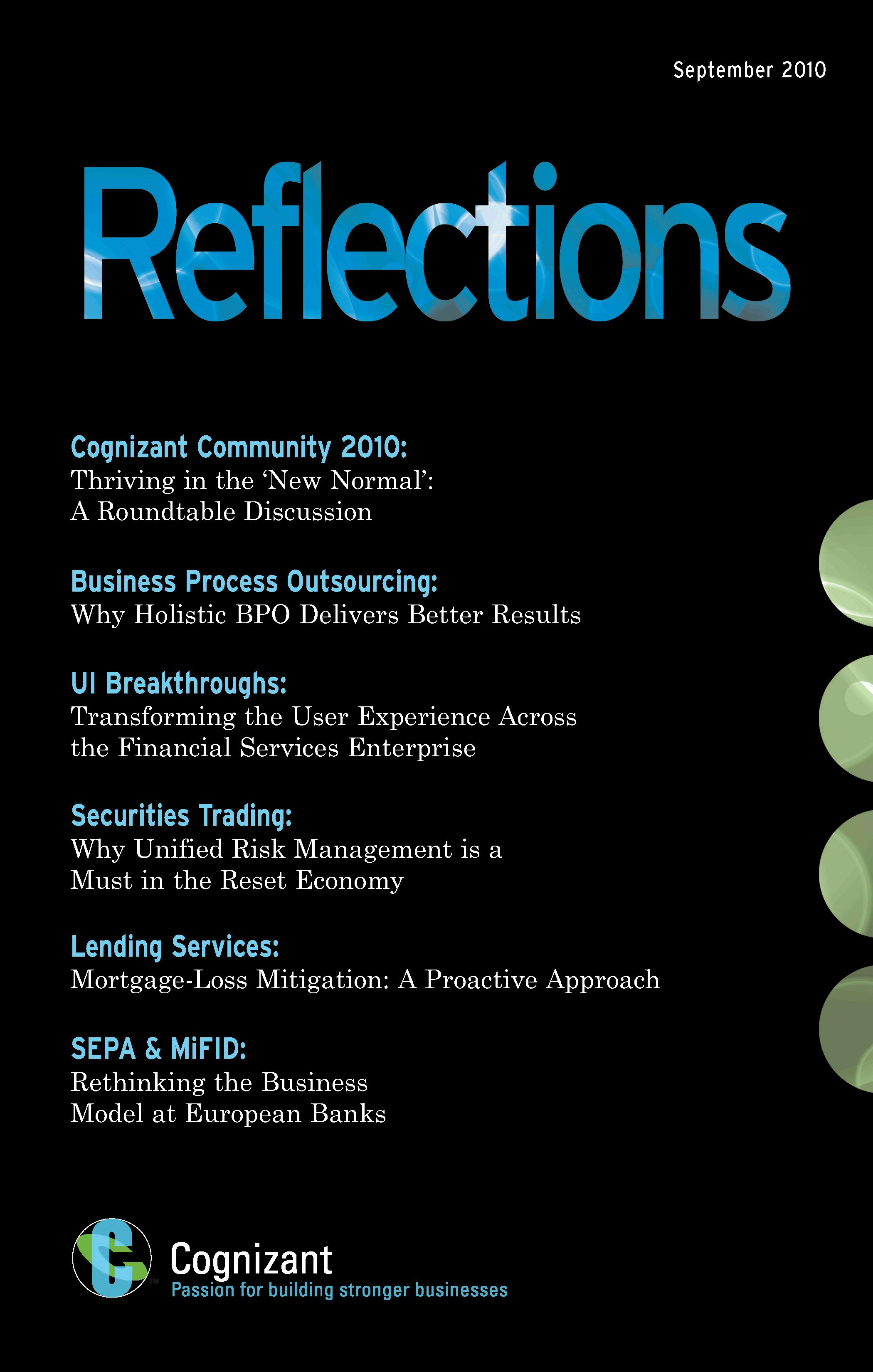 Reflections Journal Issue 1: A Journal for the Banking & Financial Services Industry
