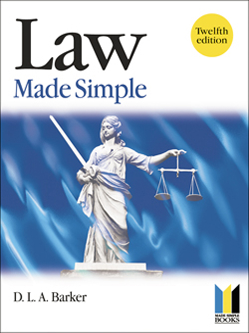Law Made Simple By: Colin Padfield,D. Barker