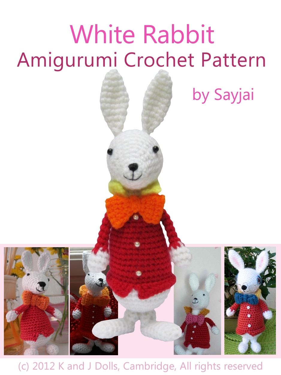 White Rabbit Amigurumi Crochet Pattern