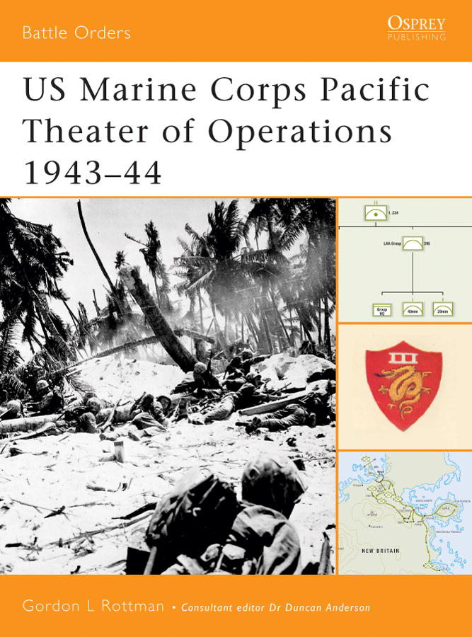US Marine Corps Pacific Theater of Operations 1943-44 By: Gordon Rottman