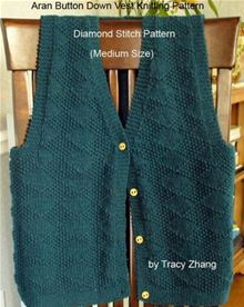 Aran Vest Knitting Pattern : Object moved