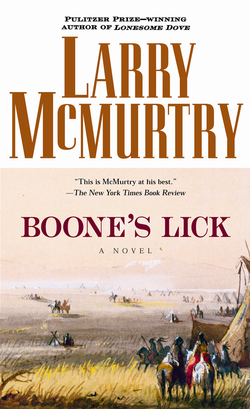 Boone's Lick By: Larry McMurtry
