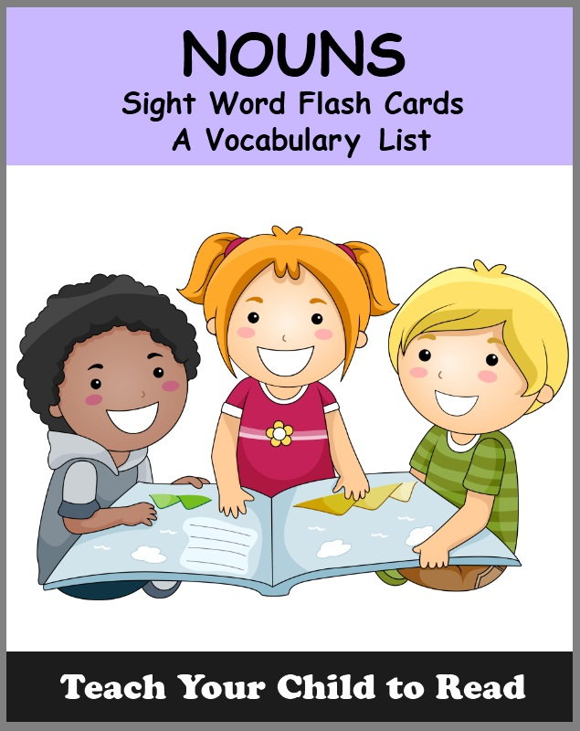 NOUN - Sight Word Flash Cards
