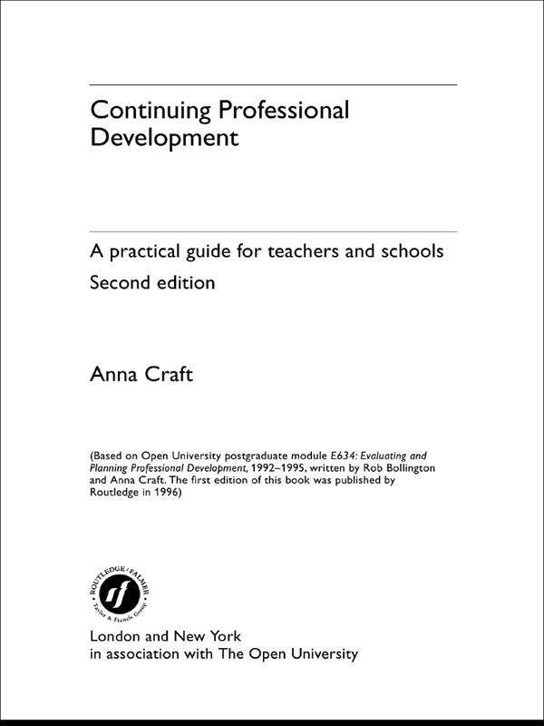 Continuing Professional Development By: Anna Craft