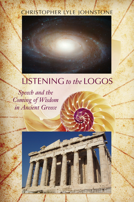 Listening to the Logos By: Christopher Lyle Johnstone,Thomas W. Benson