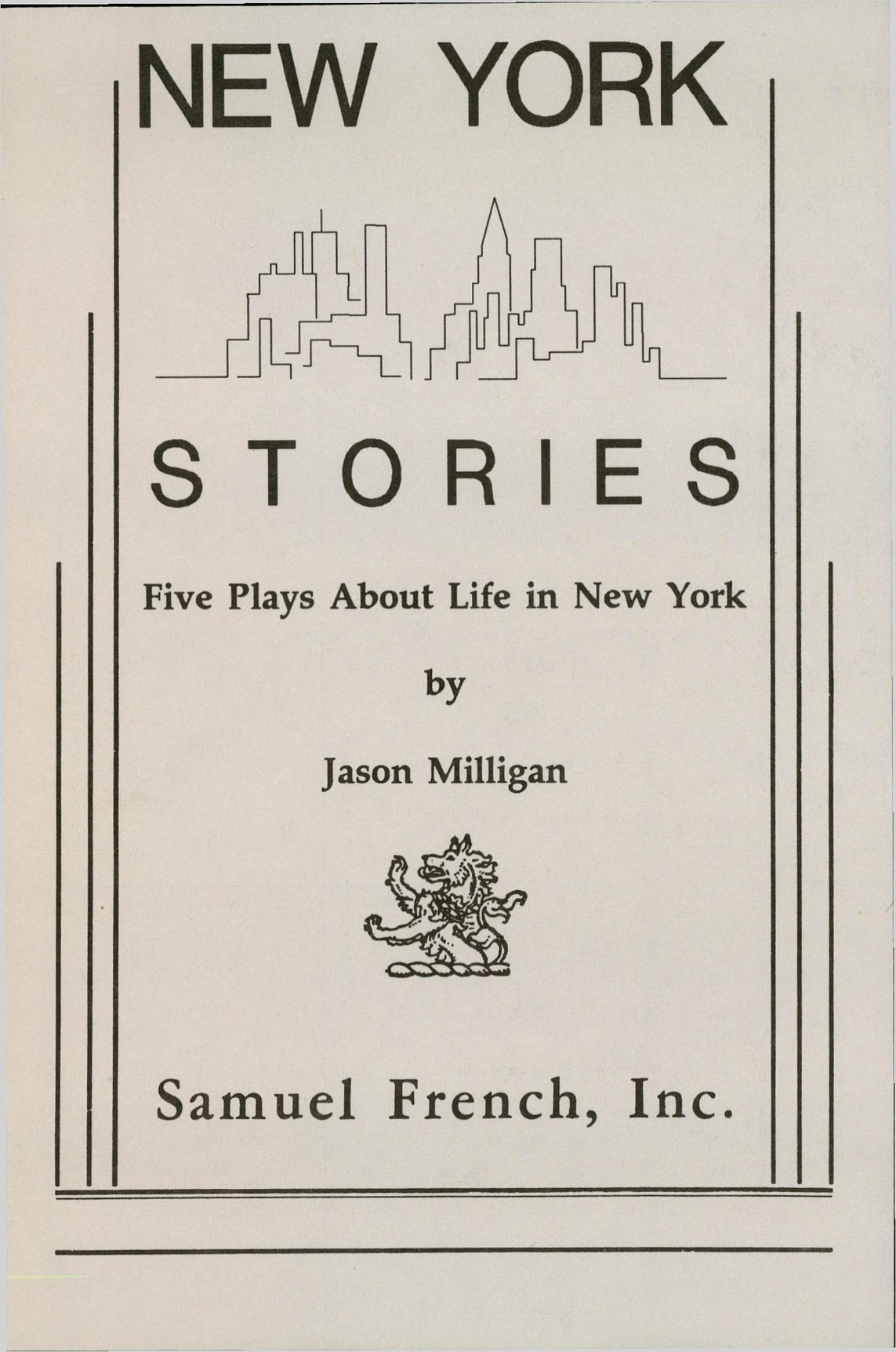 New York Stories: Five Plays About Life In New York