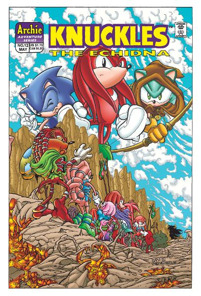 Knuckles the Echidna #12 By: Ken Penders, Manny Galan, Andrew Pepoy, Barry Grossman, Vickie Williams