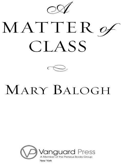 A Matter of Class By: Mary Balogh