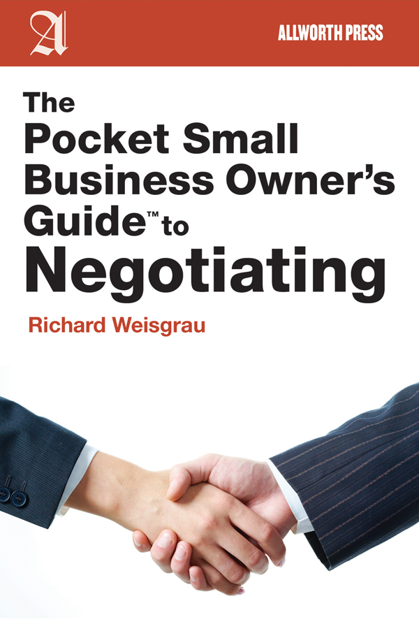The Pocket Small Business Owners Guide to Negotiating