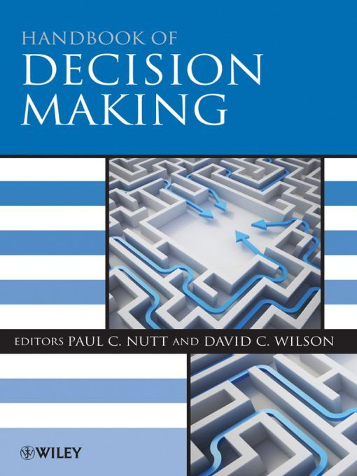 Handbook of Decision Making By: