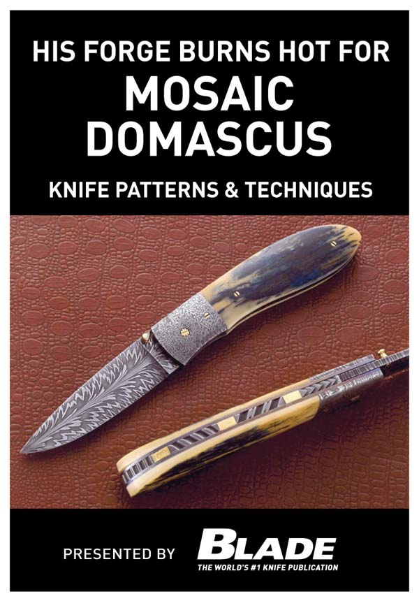 His Forge Burns Hot for Mosaic Damascus: Knife Patterns & Techniques: Damascus pattern making & techniques. Learn how to make mosaic Damascus patterns by forging Damascus steel with a master blade smith, then learn techniques for making Damascus patt