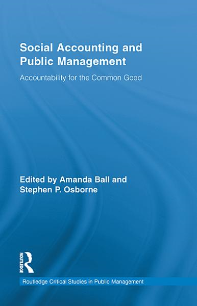 Social Accounting and Public Management By: