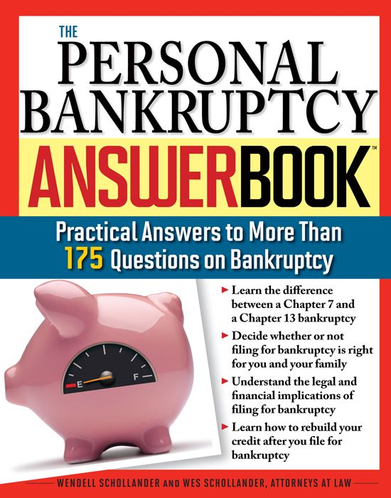 Personal Bankruptcy Answer Book: Practical Answers to More than 175 Questions on Bankruptcy
