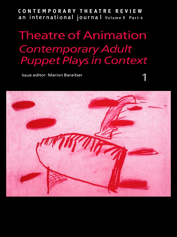 Theatre of Animation Contemporary Adult Puppet Plays in Context-1