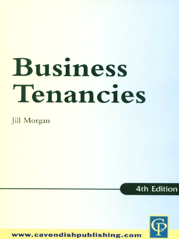 Practice Notes on Business Tenancies 4/e