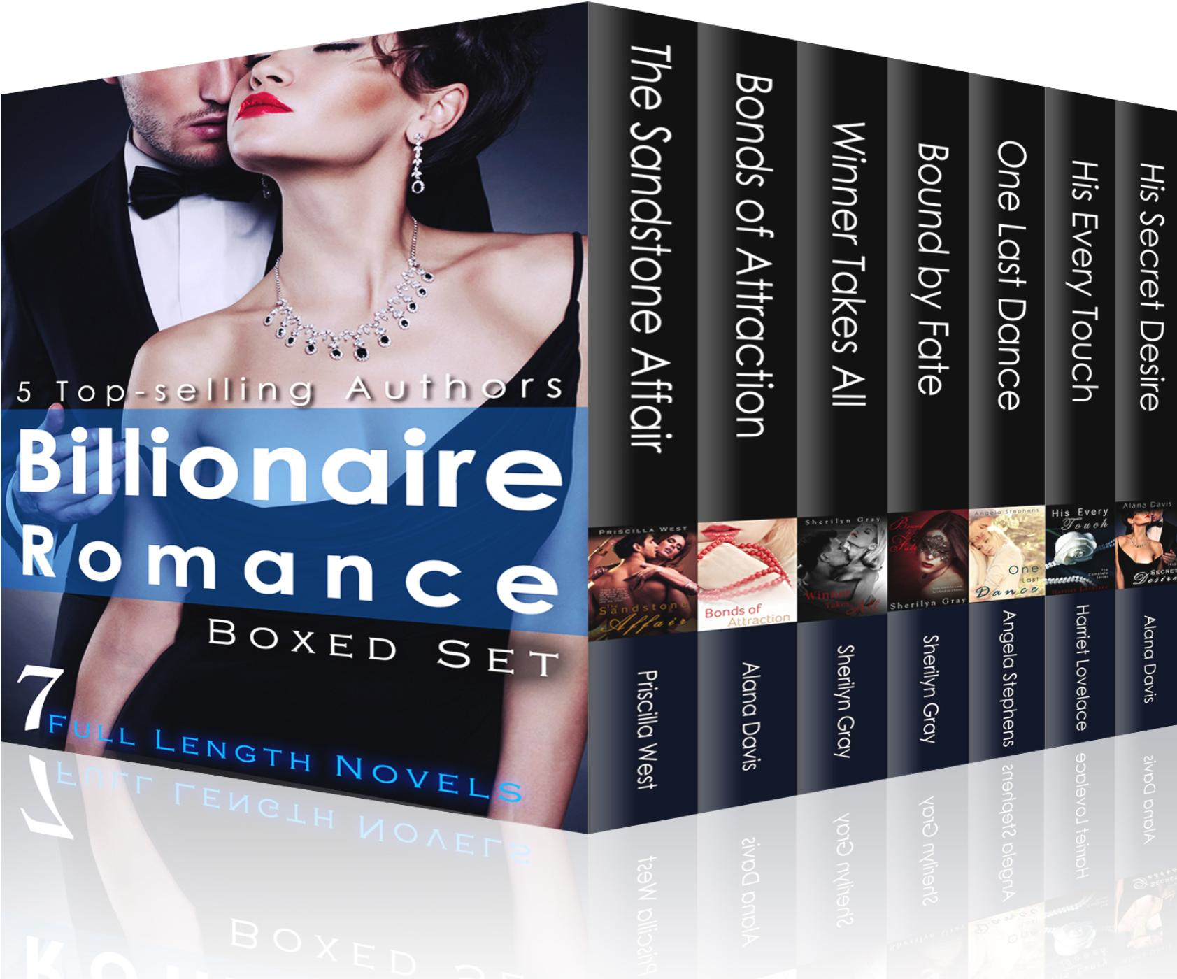 Angela Stephens, Harriet Lovelace, Priscilla West, Sherilyn Gray  Alana Davis - Billionaire Romance Boxed Set: 7 Steamy Full Length Novels