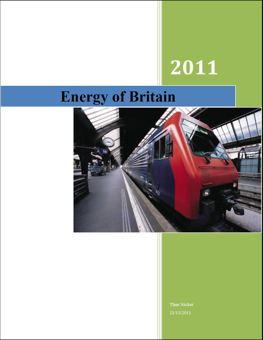 Energy of Britain