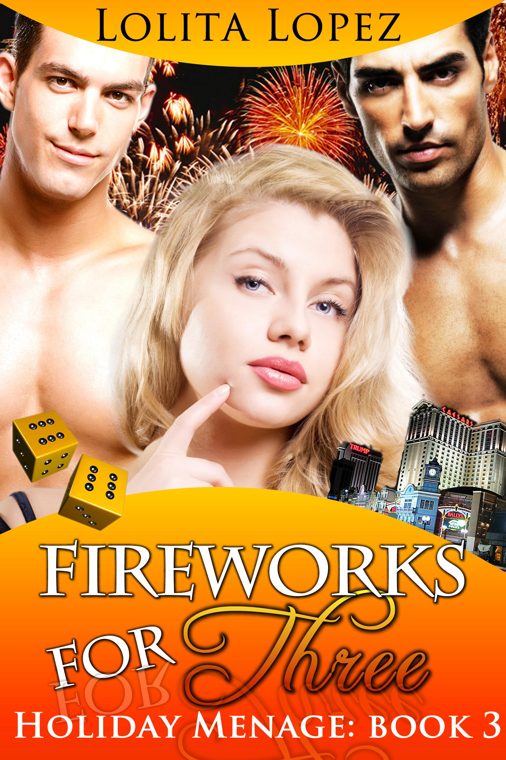 Fireworks For Three (Holiday Menage Book 3)