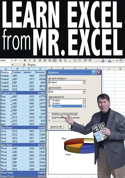 Learn Excel from Mr. Excel By: Bill Jelen