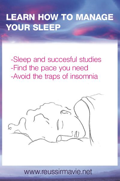 Learn how to manage your sleep