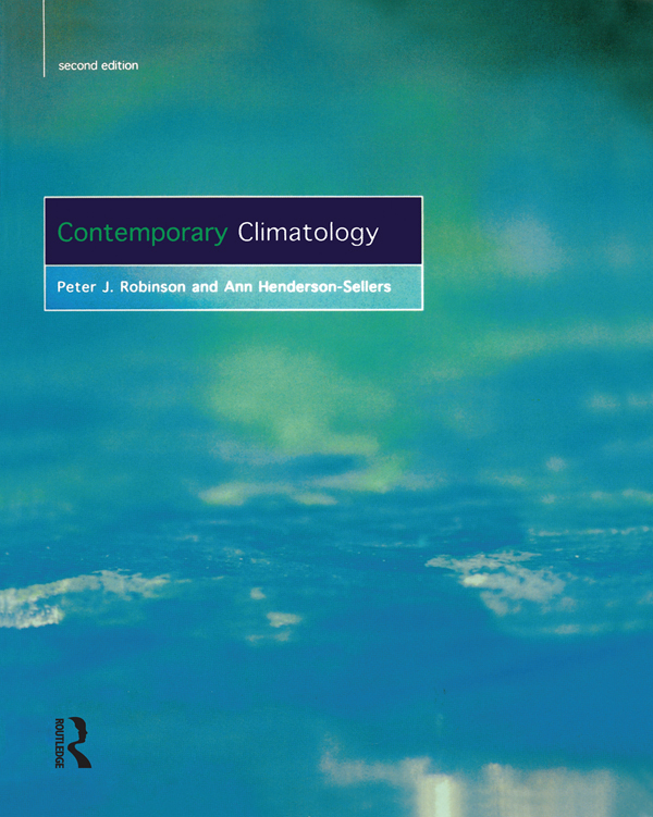 Contemporary Climatology