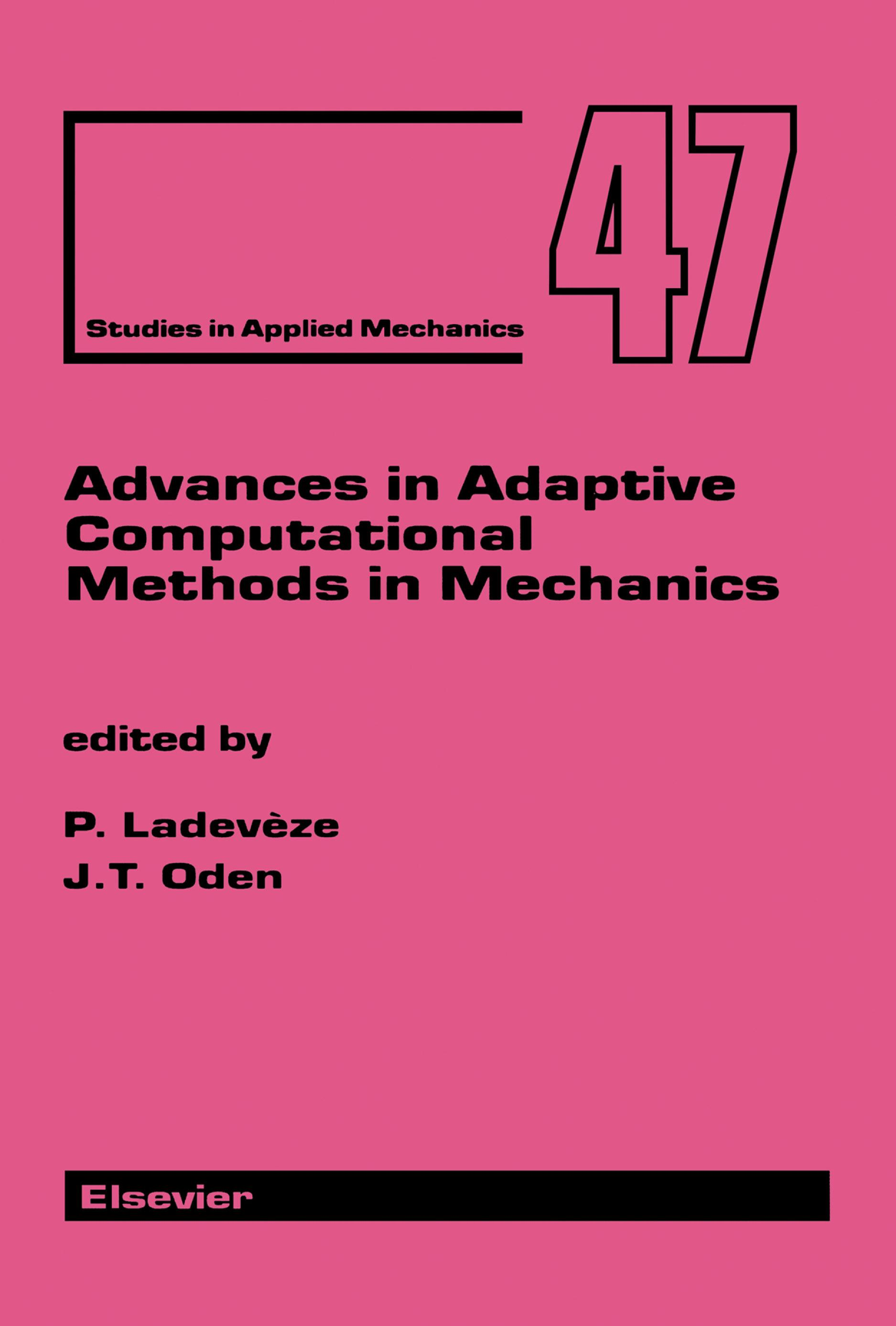 Advances in Adaptive Computational Methods in Mechanics