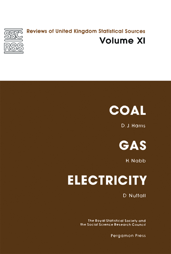 Coal,  Gas and Electricity Reviews of United Kingdom Statistical Sources