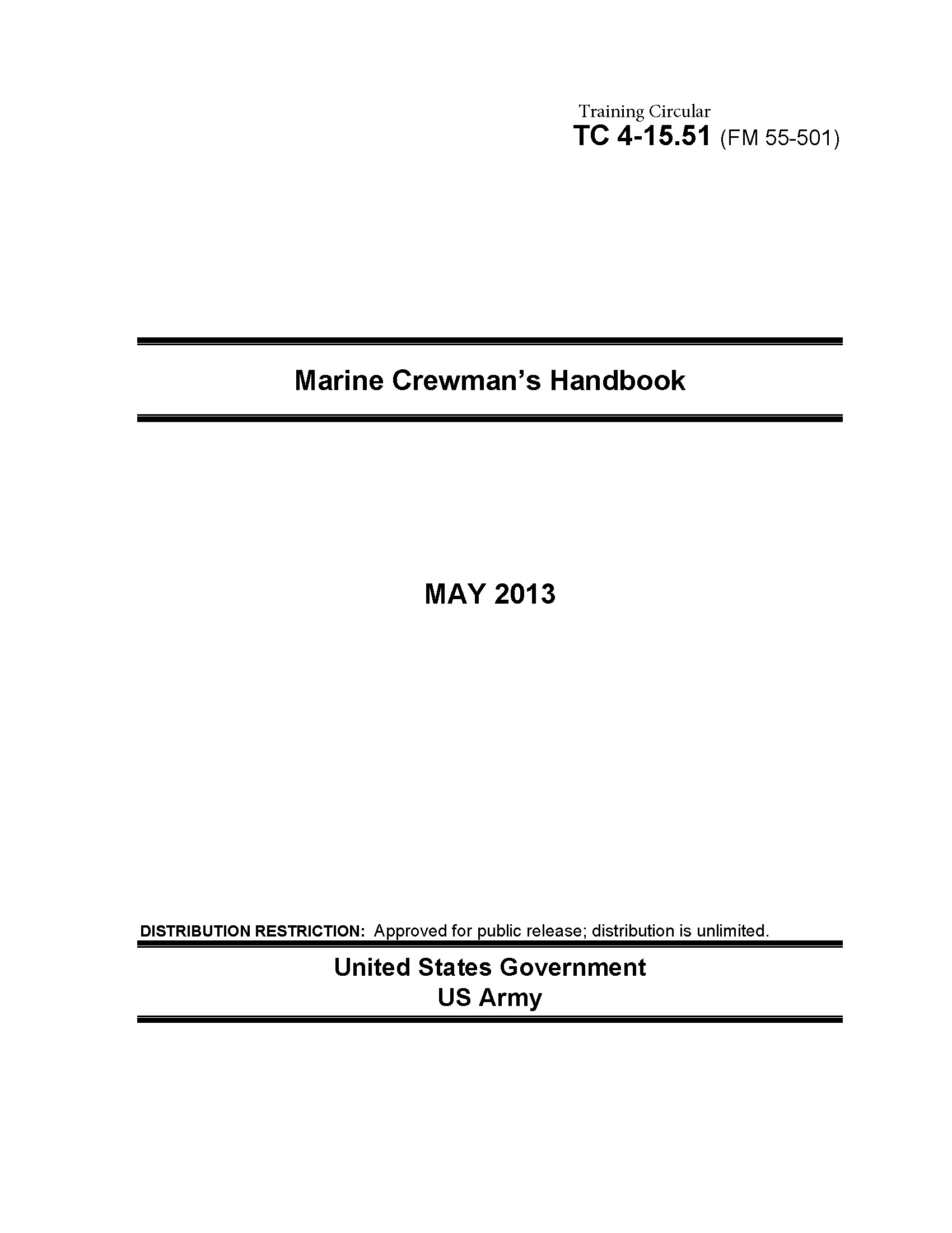 Training Circular TC 4-15.51 (FM 55-501) Marine Crewman's Handbook   May 2013