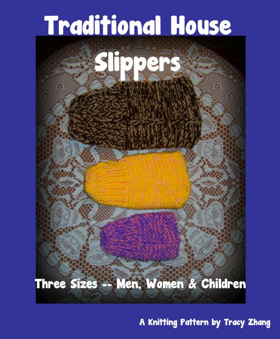 Traditional House Slippers for Men, Women & Children, A Knitting Pattern