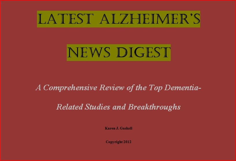 Latest Alzheimer's Disease News Digest