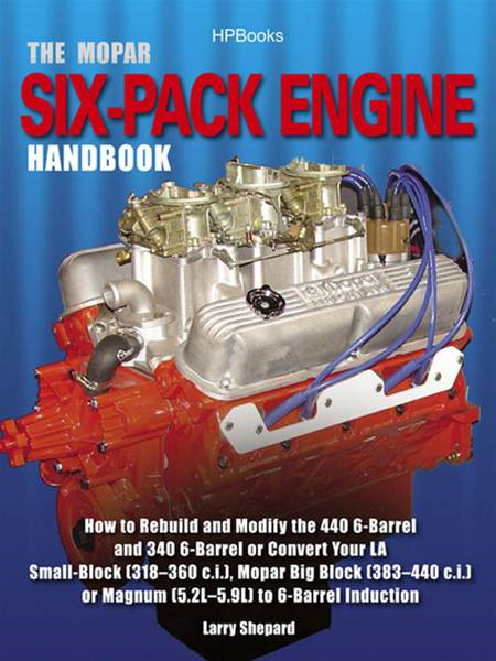 The Mopar Six-Pack Engine Handbook HP1528 By: Larry Shepard